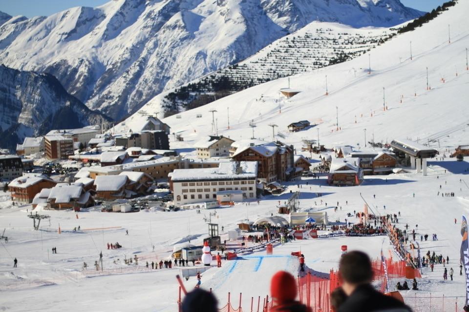 Ski cross à l'Alpe d'Huez