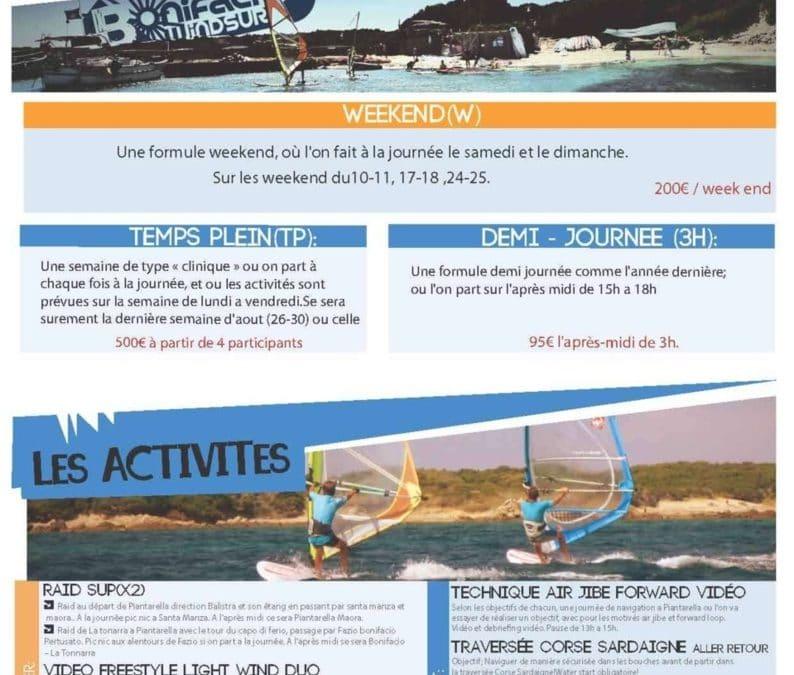 Programme windsurf pour les young guns du mois d'août.