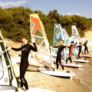 cours de windsurf en stage