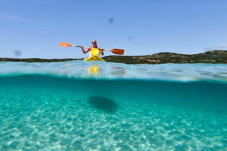 Faire du Kayak à Piantarella - Bonifacio Windsurf
